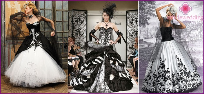 Black and White Wedding Outfit