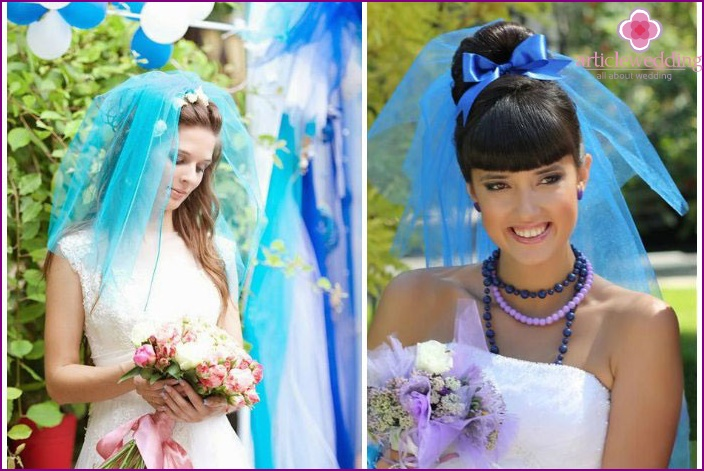 Veil of heavenly color goes to the bride