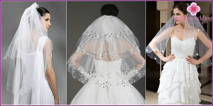 Photo veils with tiers