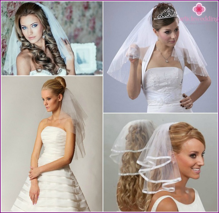 Two-layer cropped veil