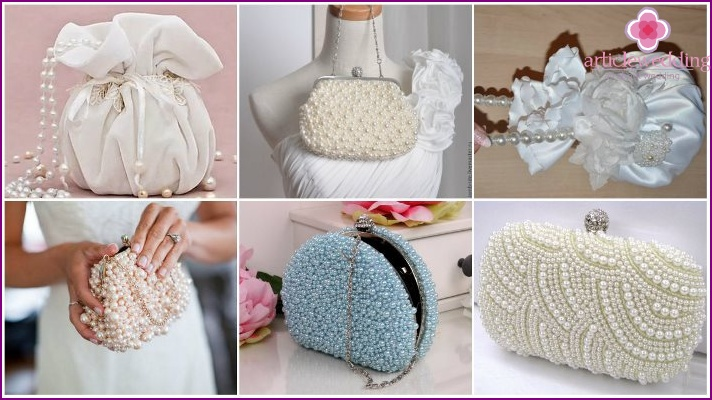 Decor accessories pearls for a wedding