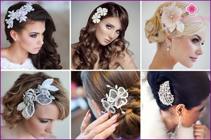 Hairpins for the wedding as jewelry