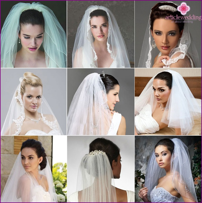 What does a wedding headdress look like on a crest?