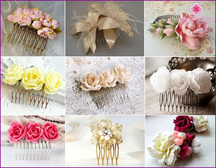 Scallop flowers for veil