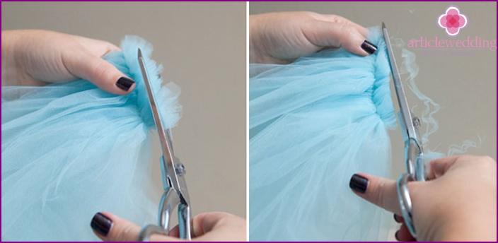 Bridal headpiece: clip the edges