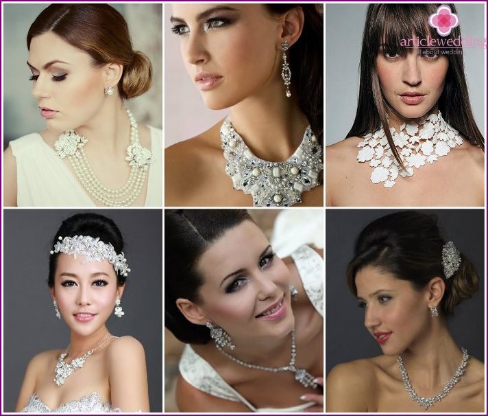 The right choice of jewelry for the bride
