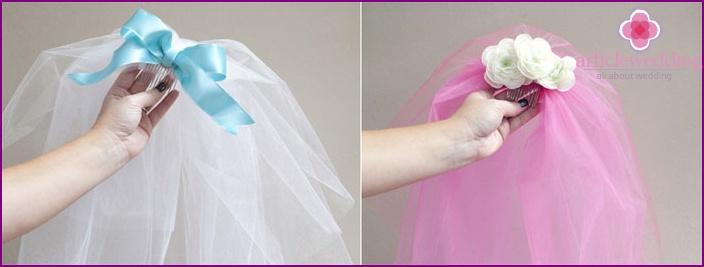 Homemade veil decor options