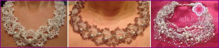 Beaded Wedding Necklace