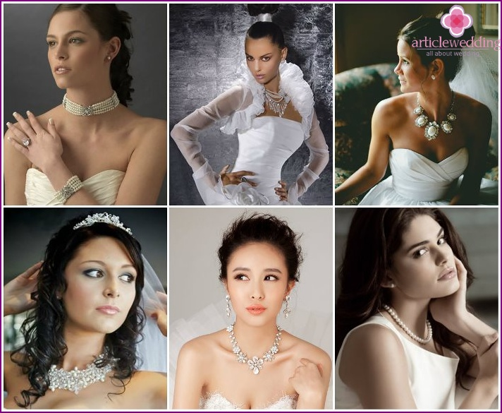 Varieties of necklaces for brides