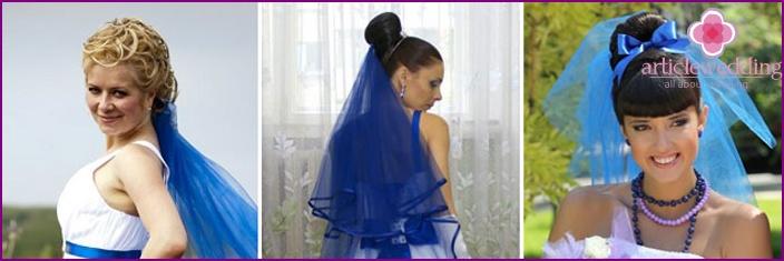 Blue veil bride