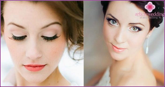 Wedding makeup: photo for green-eyed brunettes
