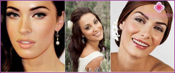 Wedding makeup: photo for dark-skinned brunettes