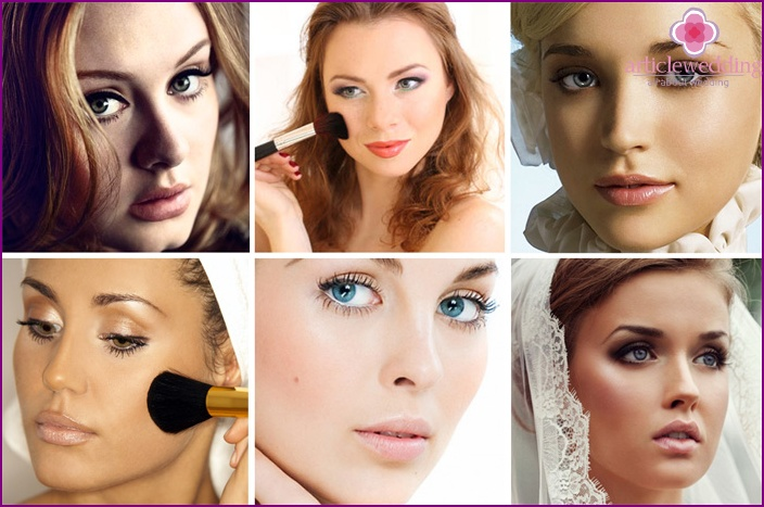 Rundes Gesicht Hochzeits Make-up