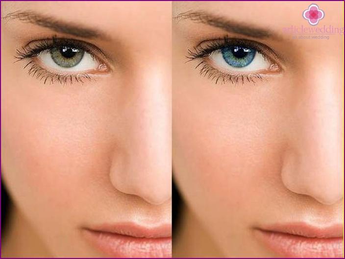 Variabilität der grauen Augenfarbe