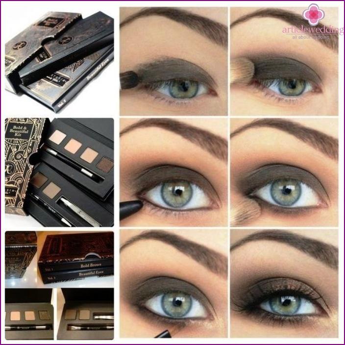 Smoky Eyes Technik für graue Augen
