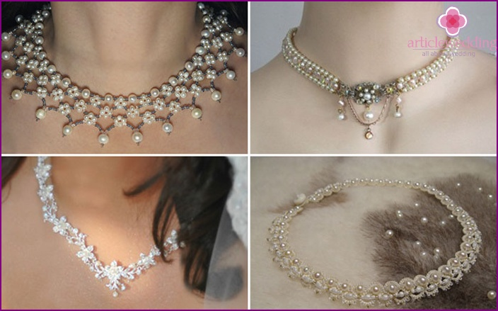 Jewelry with a combination of beads and pearls