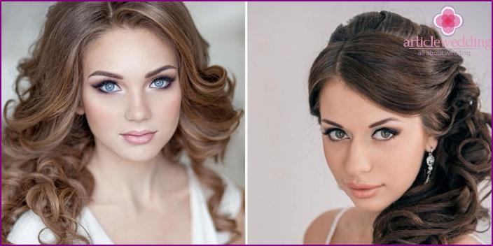 Hochzeitslippen- und Augen Make-up