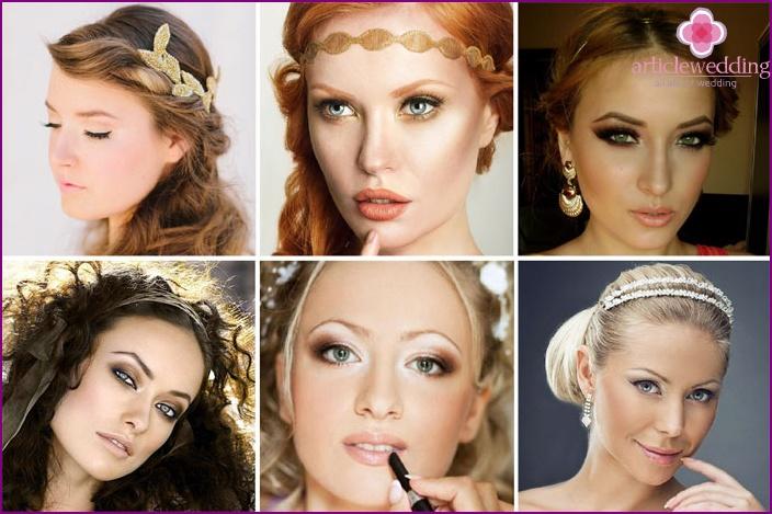 Griechisches Augen Make-up