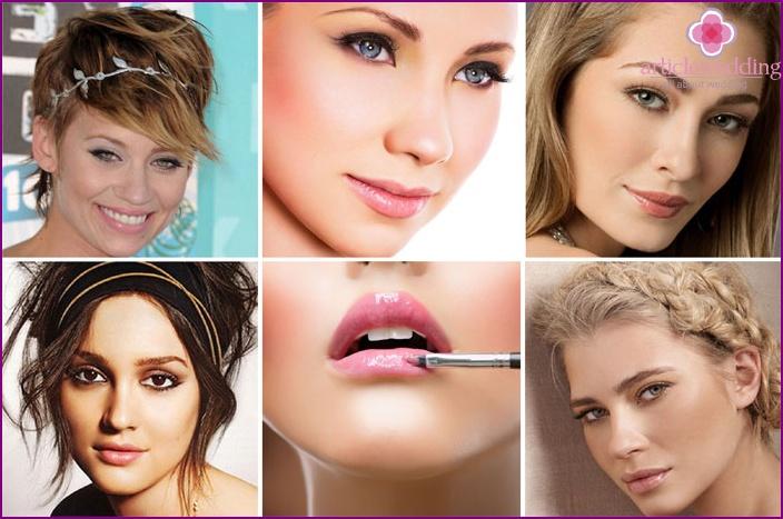 Griechische Art Hochzeit Lippen Make-up