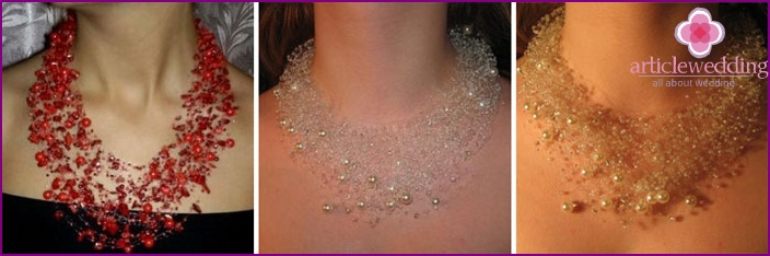 Airy Beaded Wedding Necklace