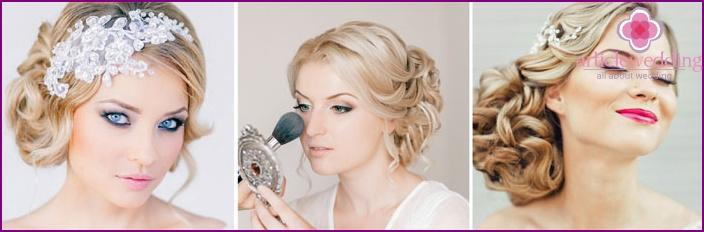 Griechische Hochzeit Make-up Optionen
