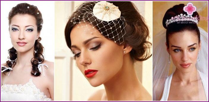 Wedding makeup for brunettes