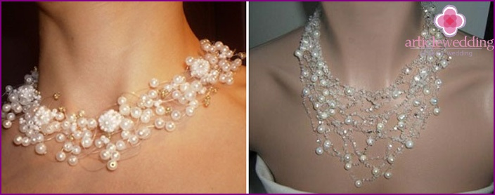 Voluminous necklaces for brides