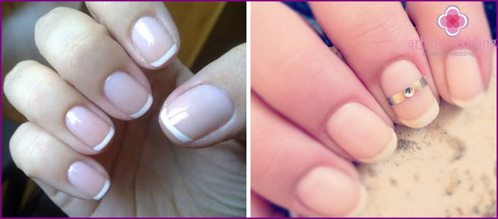 Well-groomed nails of the bride - preparation for the wedding