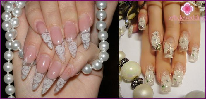 Wedding manicure shilak