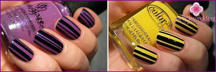 Longitudinal patterns for visual extension of nails