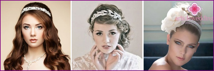 Headband for bride hairstyles