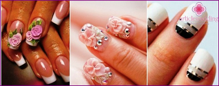 Nail art with molding and molding.