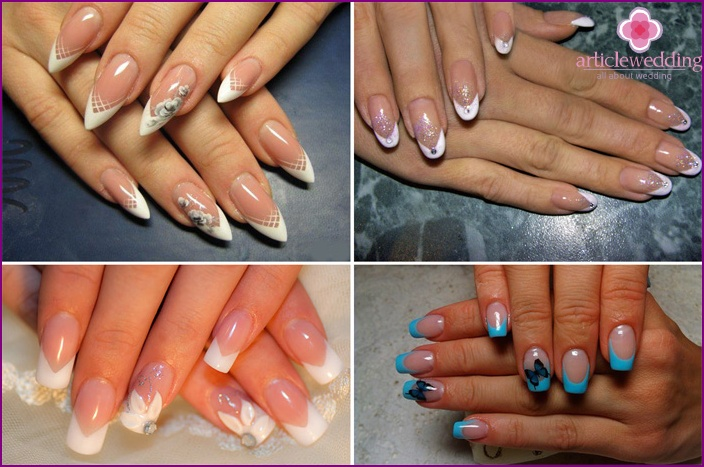 Chevron Nail Coating