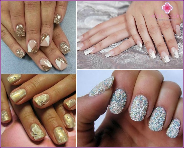 Silver or golden colors