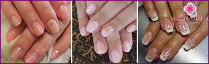 Shellac wedding manicure