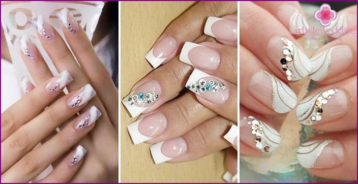 Kristallschlange - Braut Nagelbeschichtung