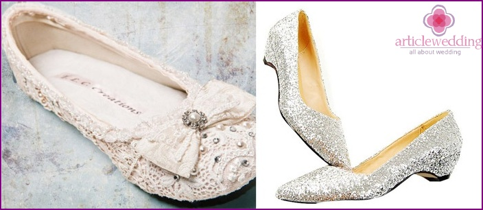 Flat shoes for a wedding