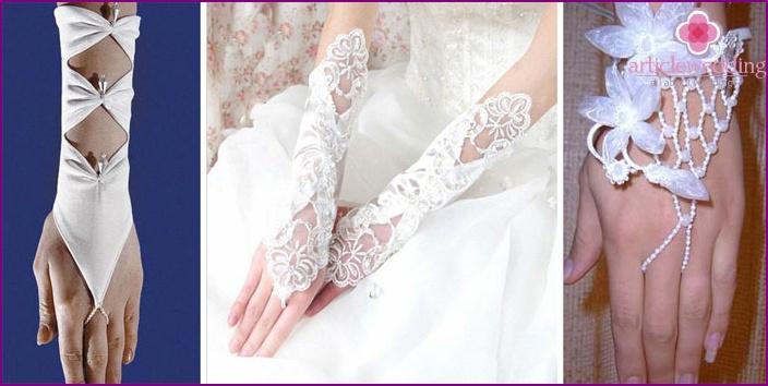 Fingerless Wedding Gloves - Mittens