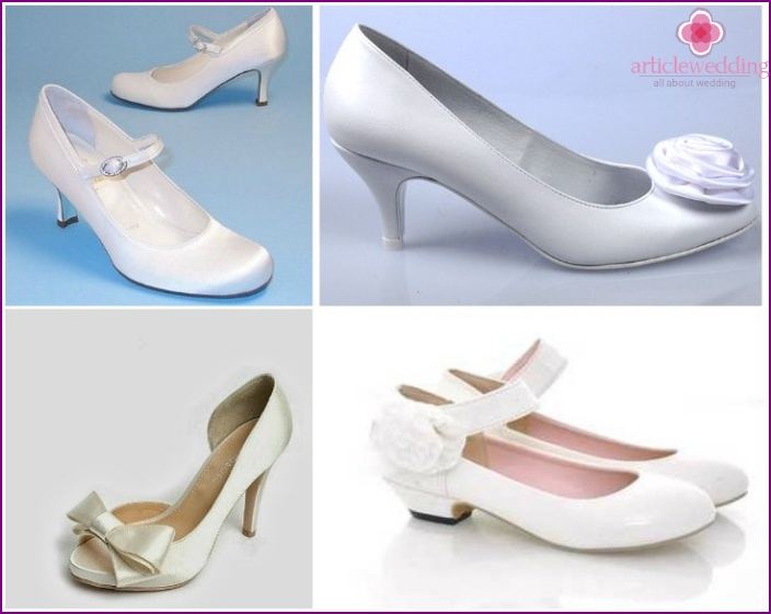 wedding models - low heel