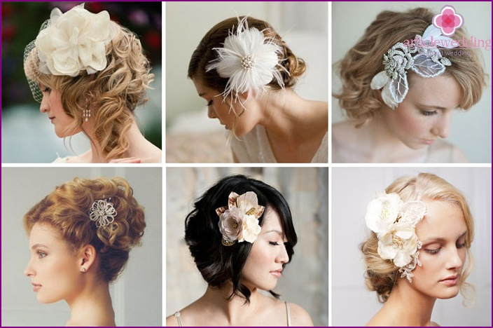 Decorative hairpin for decorating a wedding hairstyle