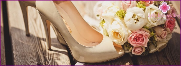 Stylish shoes for the bride