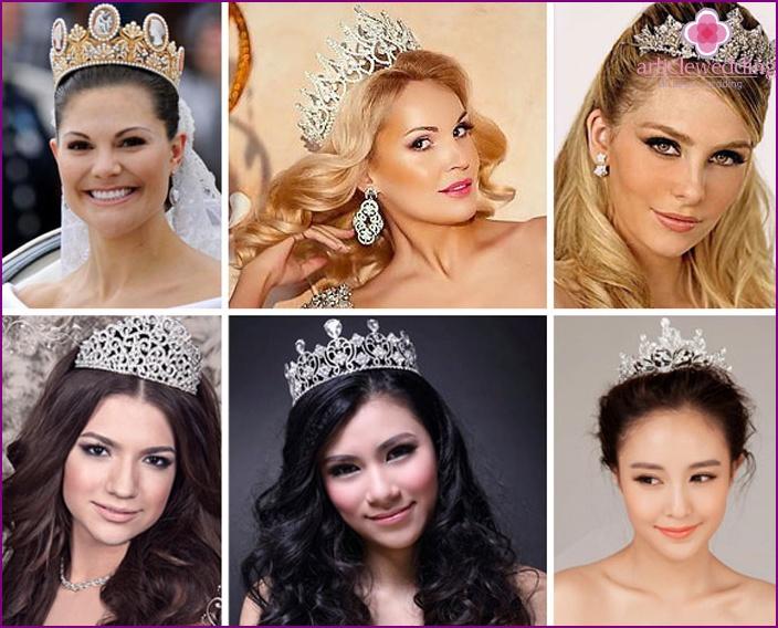 Crown tiaras for brides