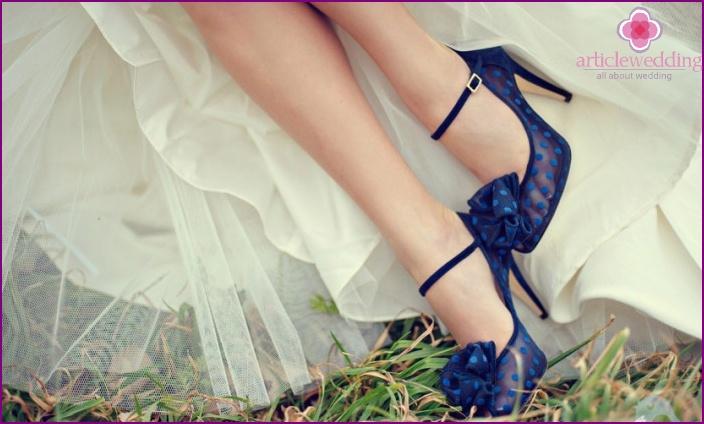 Blue polka dot shoes
