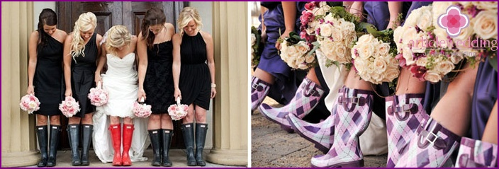 Rubber boots for the bride