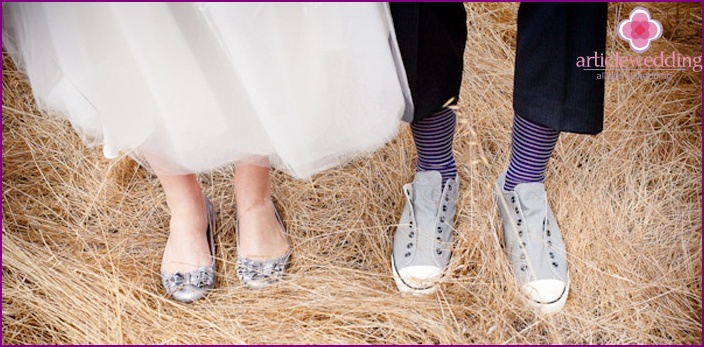 Ballet shoes for the bride