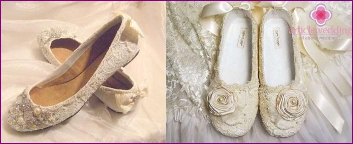 Ivory Honeymoon Ballet Flats