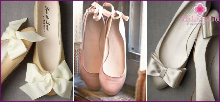 Ballet flats look elegant