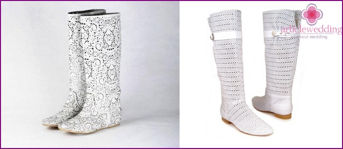 Low-soled boots for wedding 2015