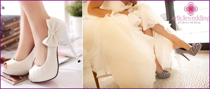 bride shod model ivory