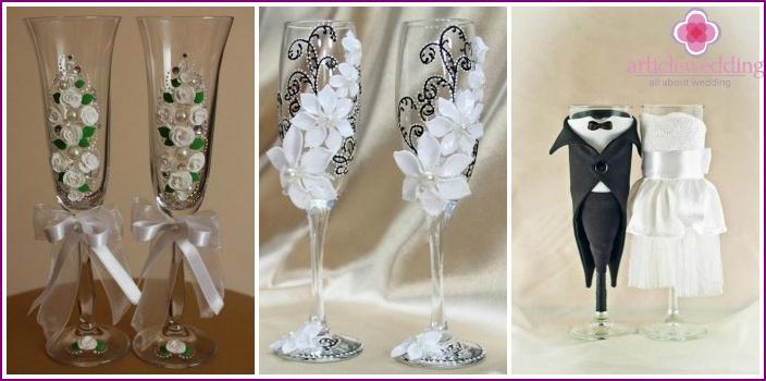 Glasses: wedding attribute